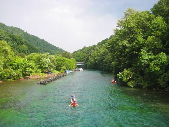 07 Chitose river rises in Lake Shikotsu
