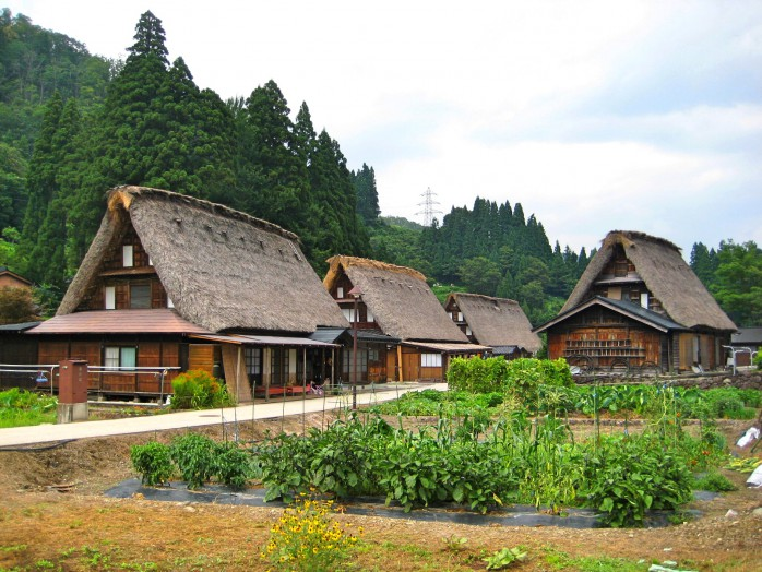02 The settlement of Gokayama gassho-zukuri